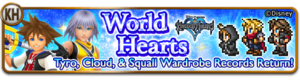 World Hearts banner from Final Fantasy Record Keeper