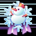 Snowman Rosette