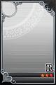 an empty R Upright card