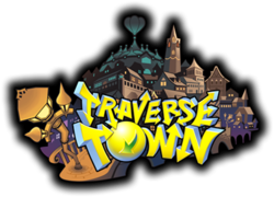 The Traverse Town logo from Kingdom Hearts 3D: Dream Drop Distance.