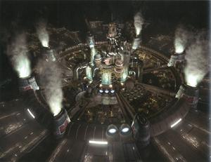 <s>Image of the new Midgar world from KH3</s> Concept art of Midgar