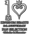 Kingdom Hearts 10th Anniversary Fan Selection -Melodies & Memories- Logo.png