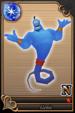 Genie card (card 82) from Kingdom Hearts χ