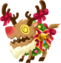 """the Rage Reindeer<span style=""""font-weight: normal"""">&#32;(<span class=""""t_nihongo_kanji"""" style=""""white-space:nowrap"""" lang=""""ja"""" xml:lang=""""ja"""">レイジレインディア</span><span class=""""t_nihongo_comma"""" style=""""display:none"""">,</span>&#32;<i>Reiji Reindia</i><span class=""""t_nihongo_help noprint""""><sup><span class=""""t_nihongo_icon"""" style=""""color: #00e; font: bold 80% sans-serif; text-decoration: none; padding: 0 .1em;"""">?</span></sup></span>)</span> from the 2014 Christmas event"""